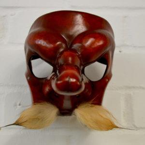 Capitano leather commedia dell'arte mask