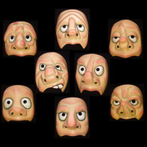 Character Half Masks (Flesh Effect)